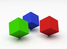 färgkuber stock illustrationer