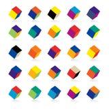 färgkuber Arkivfoto