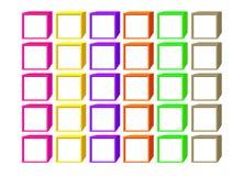 Färgkuber med vita fönster vektor illustrationer