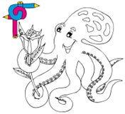 färgläggningbildbläckfisk Arkivbild