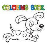 Färgläggningbok av den lilla hunden eller valpen Royaltyfri Foto