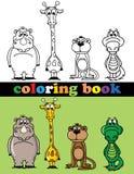 Färgläggningbok av djur Arkivfoto