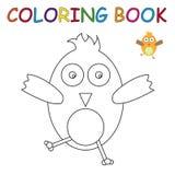 Färgläggningbok - fågel Royaltyfri Bild