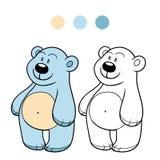 Färgläggningbok för barn (den polara nallebjörnen) Royaltyfria Bilder