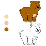 Färgläggningbok för barn (nallebjörnen) Fotografering för Bildbyråer