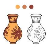 Färgläggningbok för barn (vasen) Royaltyfria Foton
