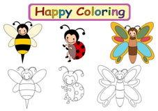 Färgläggningbok för ungar Fotografering för Bildbyråer