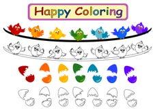 Färgläggningbok för ungar Arkivbilder