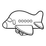 Färgläggningbok för ungar, flygplan Royaltyfri Fotografi