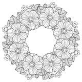 Färgläggningbok för vuxna människor trädgårds- sommar för blomningblommor Vektor isolerade beståndsdelar Vektorbild för tryck på  Royaltyfria Foton