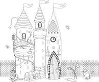 Färgläggningbok för vuxna och äldre barn Färga sidan med D Royaltyfri Bild