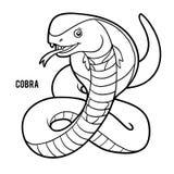 Färgläggningbok, kobra stock illustrationer