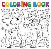 Färgläggningbok med gulliga djur 4 Royaltyfria Bilder