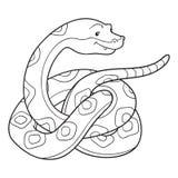 Färgläggningbok (ormen) stock illustrationer