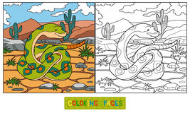 Färgläggningbok (ormen) royaltyfri illustrationer