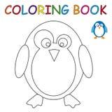 Färgläggningbok - pingvin Arkivfoton
