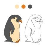 Färgläggningbok (pingvinet) Arkivfoto
