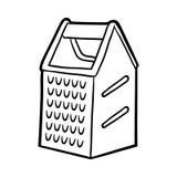 Färgläggningbok, rivjärn stock illustrationer