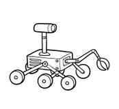 Färgläggningbok, Rover royaltyfri illustrationer