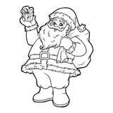 Färgläggningbok, Santa Claus Royaltyfria Bilder