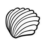 Färgläggningbok, Shell stock illustrationer