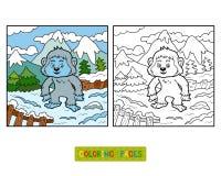 Färgläggningbok, snöman royaltyfri illustrationer