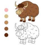 Färgläggningbok (yak) Royaltyfri Fotografi