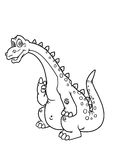 färgläggningdinosaursidor Arkivfoton