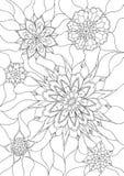 färgläggningen blommar sidan Royaltyfria Bilder