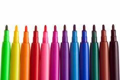 färgläggningpennor Royaltyfri Bild