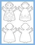 Färgläggningsidan med förbindande beståndsdelar - illustration för ungarna Royaltyfri Fotografi