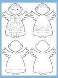 Färgläggningsidan med modellen - illustration för ungarna Arkivfoto