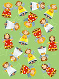 Färgläggningsidan med modellen - illustration för ungarna Fotografering för Bildbyråer