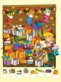 Färgläggningsidan med modellen - illustration för ungarna Royaltyfria Foton