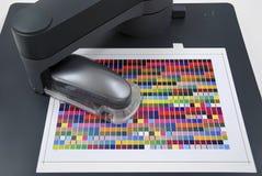 Färgledning/färgprofiler för efterbehandlingsapparater Arkivfoton