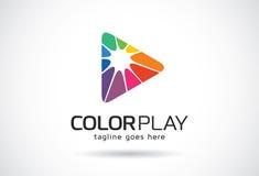 Färglek Logo Template Design Vector, emblem, designbegrepp, idérikt symbol, symbol Fotografering för Bildbyråer