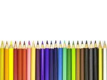 färglinje blyertspennor Royaltyfria Foton