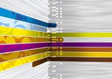 färglinjer Arkivbild