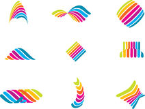 färglinjer Arkivfoton