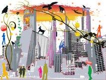färglivstid för 9 stad Arkivbild