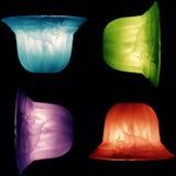 Färgljuskronadesign Arkivbilder