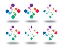 färglogotecken vektor illustrationer