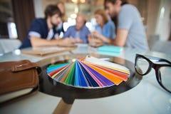 Färgmärkdukar Arkivfoton