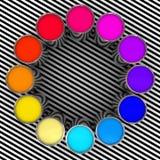 färgmålarfärg vektor illustrationer