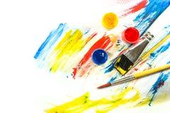 Färgmålarfärgbakgrund Royaltyfri Fotografi