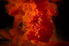 Färgmålarfärgdroppar i vatten Virvla runt för FÄRGPULVER som är undervattens- Royaltyfri Fotografi