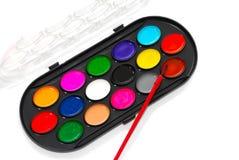 färgmålarfärger Fotografering för Bildbyråer