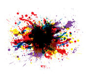 färgmålarfärgfärgstänk Arkivbild