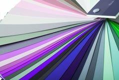 färgmålarfärgprovkarta Arkivbild