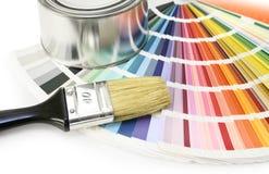 färgmålarfärgprovkartor Royaltyfri Bild